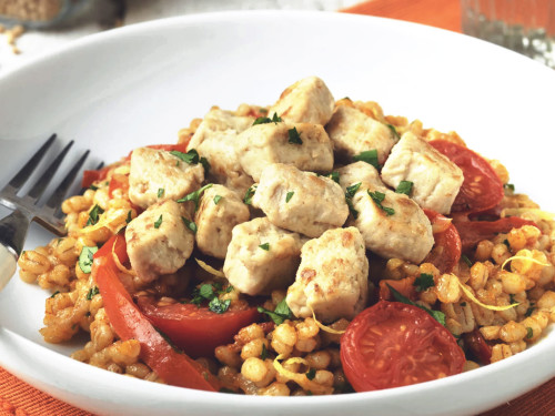 Pearl Barley Risotto Recipe with Quorn Pieces