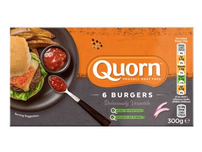 frozen meat free quorn brilliant burgers