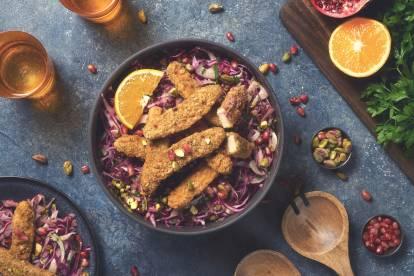 quorn sweet chipotle goujons winter salad healthy vegetarian recipe
