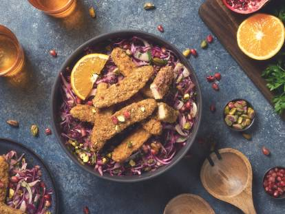 Quorn Sweet Chipotle Goujons Winter Salad