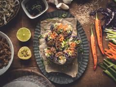 Rouleaux de printemps végétariens au haché de Quorn