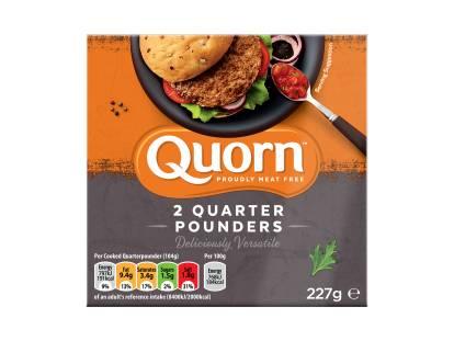 frozen meat free quorn quarter pounders