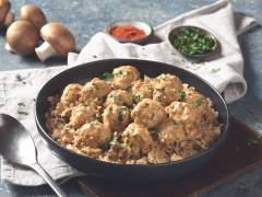 quorn swedish style balls stroganoff vegetarian recipe