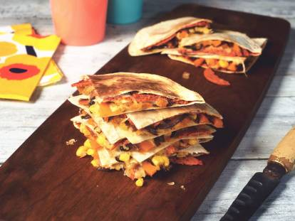 quorn vegetarian pepperoni-style pizzadilla recipe
