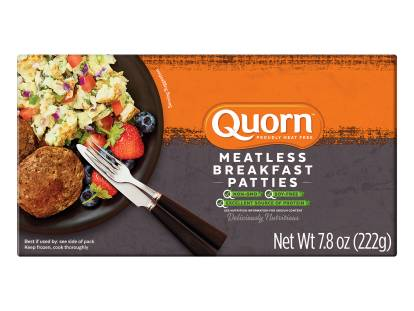 frozen meatless quorn sausage patties