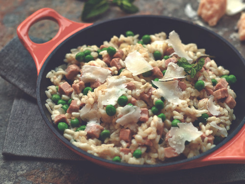 Quick & Easy Quorn Bacon & Pea Risotto