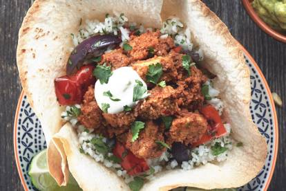 Mexican Taco Bowl with Coriander Rice