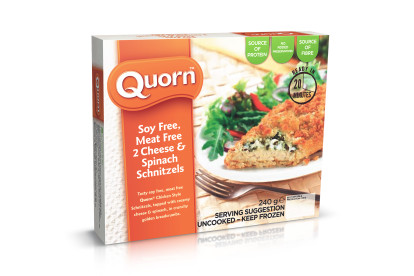 Soy Free, Meat Free Cheese & Spinach Schnitzels