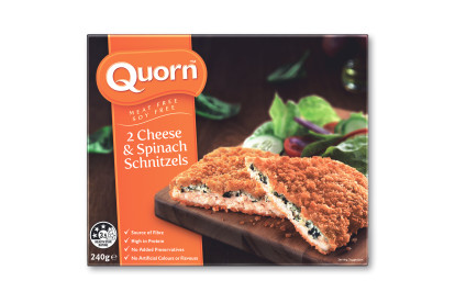 Quorn Cheese and Spinach Schnitzels
