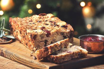 quorn pieces and chestnut loaf with cranberries vegetarian recipe