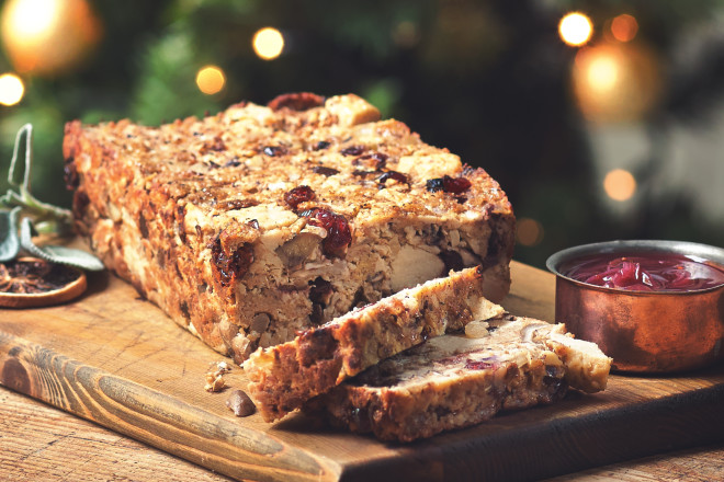Meat Free Pieces and Chestnut Loaf