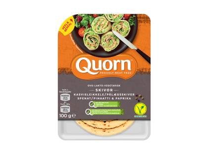 Quorn Ovo-Vegetariska Skivor Spenat & Paprika