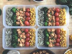 veggie box with stir fry quorn pieces vegetarian recipe
