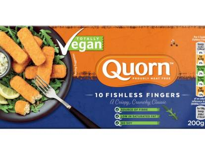 frozen quorn vegan fishless fingers