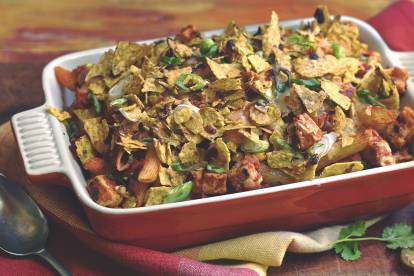 Mexican Quorn Pieces Pasta Bake