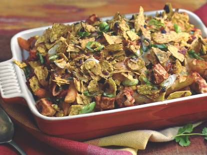 Mexican Pasta Bake with Quorn Meatless Pieces