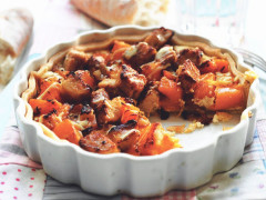 Quorn Meat Free Pieces and Butternut Squash Tart