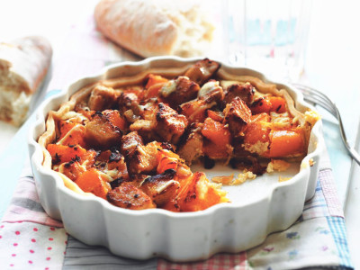 Quorn Meat Free Pieces & Butternut Squash Tart