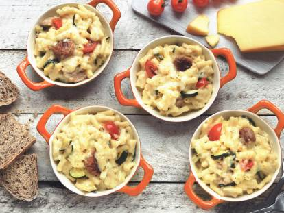 quorn swedish style ball with mac & cheese vegetarian recipe