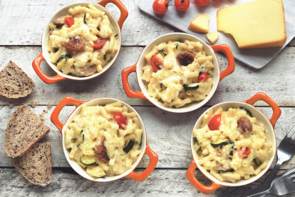 quorn swedish style meatball with mac & cheese vegetarian recipe