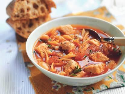 Hearty Bean Pasta Soup