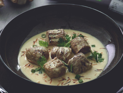 Poached Quorn Swedish Style Balls with Fragrant Coconut Broth