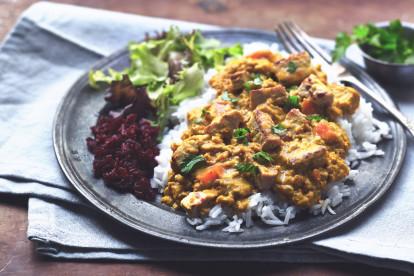 Katsu curry à l'émincé de Quorn