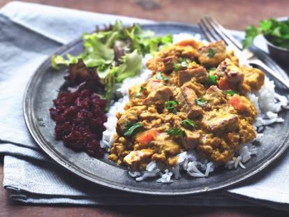 vegetarian katsu curry with quorn pieces recipe