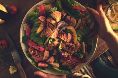 quorn fillets fajita salad healthy mexican recipe