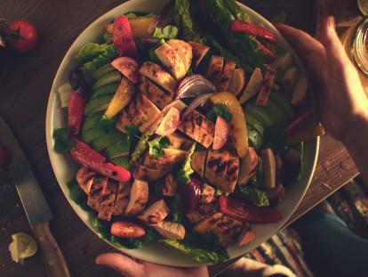 Quorn Fillets Fajita Salad