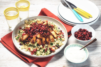 Moroccan Spiced Quorn Fillets with Green Couscous