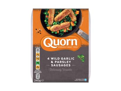 meat free quorn wild garlic & parsley sausages