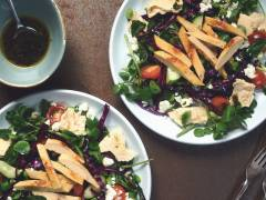 quorn roast sliced fillets fattoush salad vegetarian Sunday roast recipe