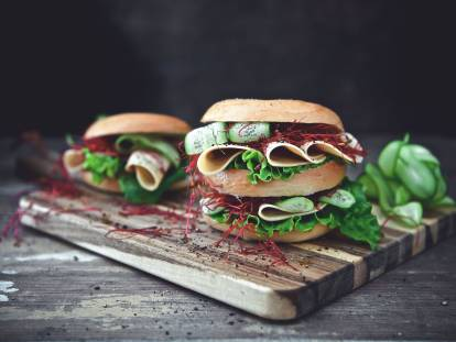 quorn vegan chicken free slices bagel meat-free recipe