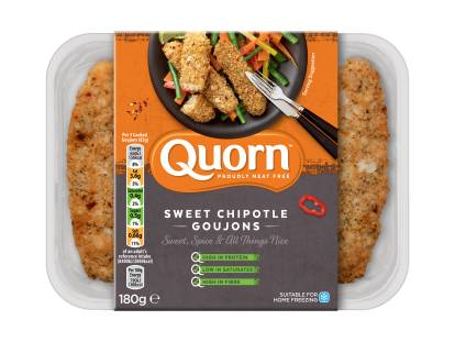 meat free quorn sweet chipotle goujons