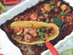 Tacos med baked beans & Quorn -recept