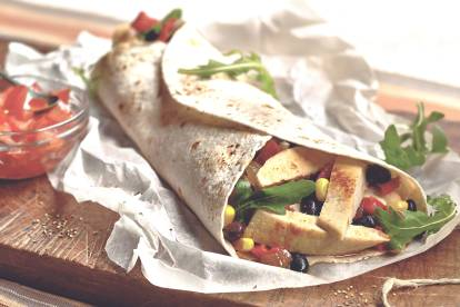 Wrap met Quorn Filets & Bonen