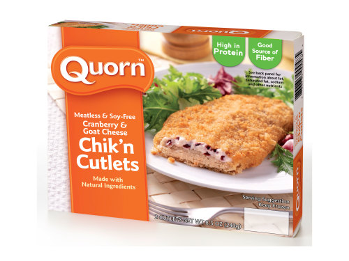 Meatless Cranberry & Goat Cheese Chicken Cutlets