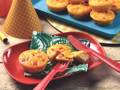 quorn pieces mini crustless quiches vegetarian recipe