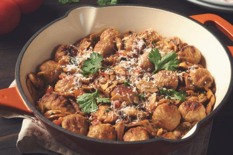 quorn swedish style balls in mushroom sauce vegetarian recipe