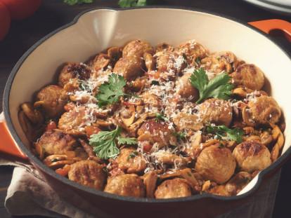 quorn swedish style meatballs in mushroom sauce vegetarian recipe