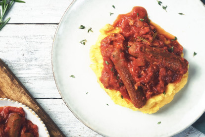 Quorn Sausages with Polenta