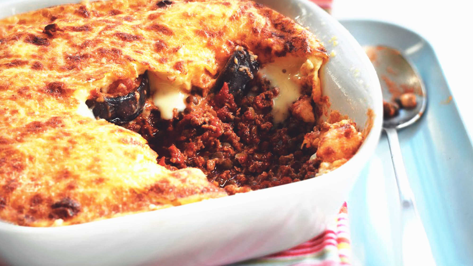 Vegetarian Aubergine Moussaka With Quorn Mince Quorn