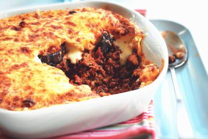 vegetarian moussaka with aubergines & quorn mince vegetarian recipe
