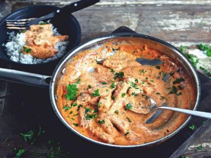 Lakto-ovo vegetarisk stroganoff - Lättlagat Recept