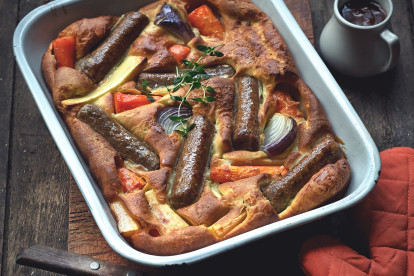 Quorn Toad in the Hole with Root Vegetables