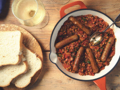Salsicce Quorn con lenticchie