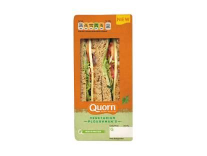Vegetarian Cheese Ploughman's Sandwich
