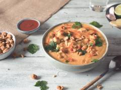 creamy coconut and butternut squash soup with quorn vegan pieces recipe