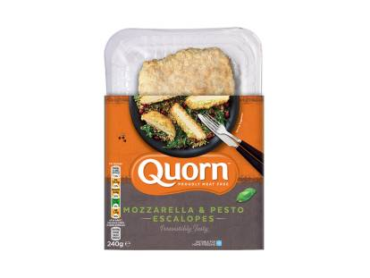 meat free quorn mozzarella & pesto escalopes